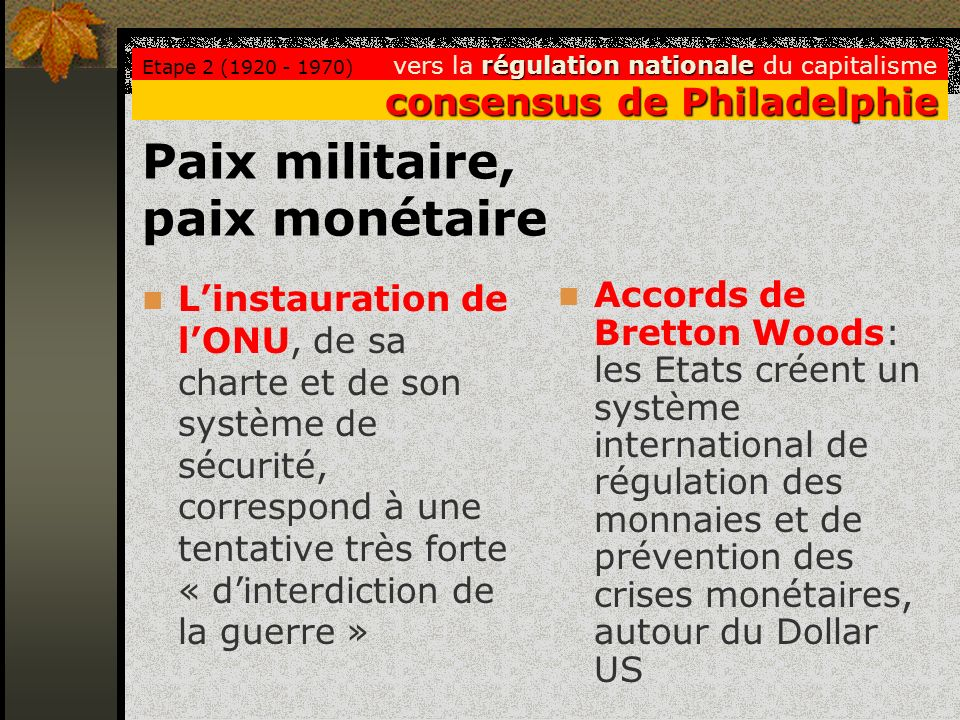 Paix militaire, paix monétaire