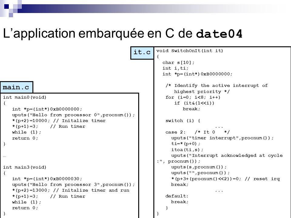 L'application embarquée en C de date04