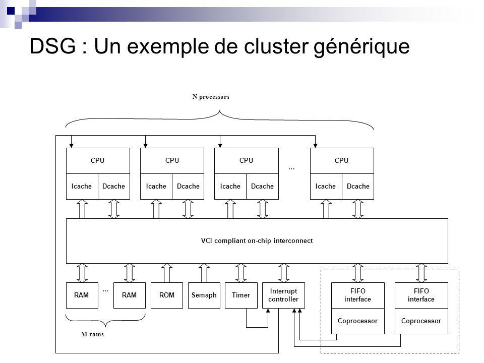 DSG : Un exemple de cluster générique