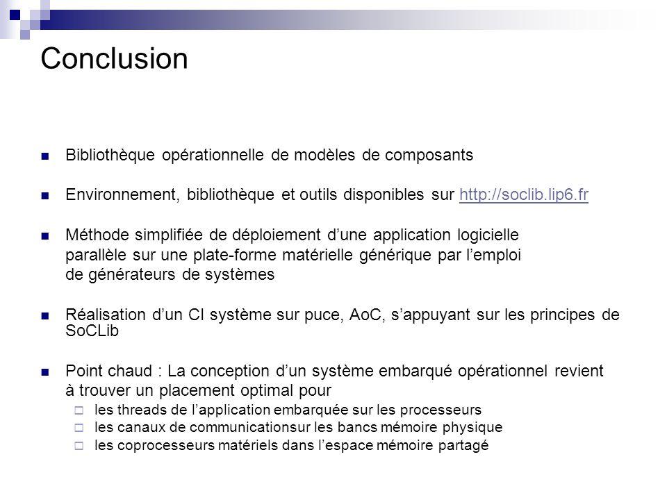Conclusion Bibliothèque opérationnelle de modèles de composants