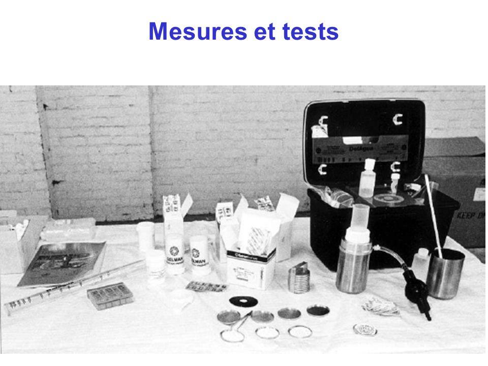 Mesures et tests 2 mins. Expliquer que l'on va se servir de ce matériel lors des ateliers.