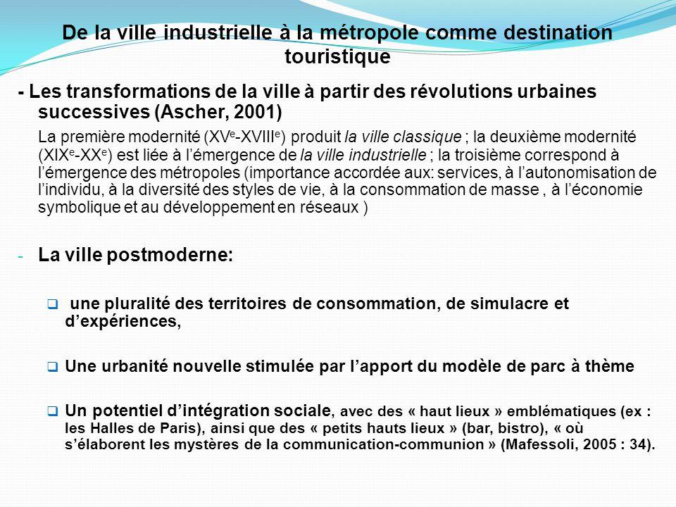 De la ville industrielle à la métropole comme destination touristique