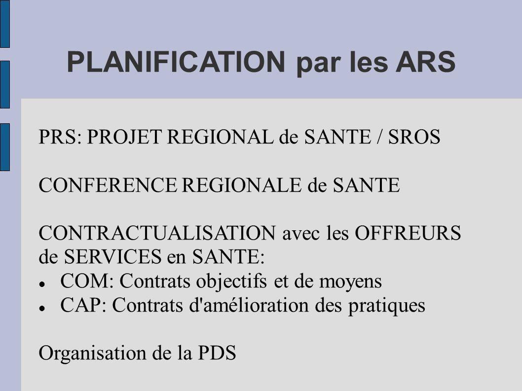 PLANIFICATION par les ARS