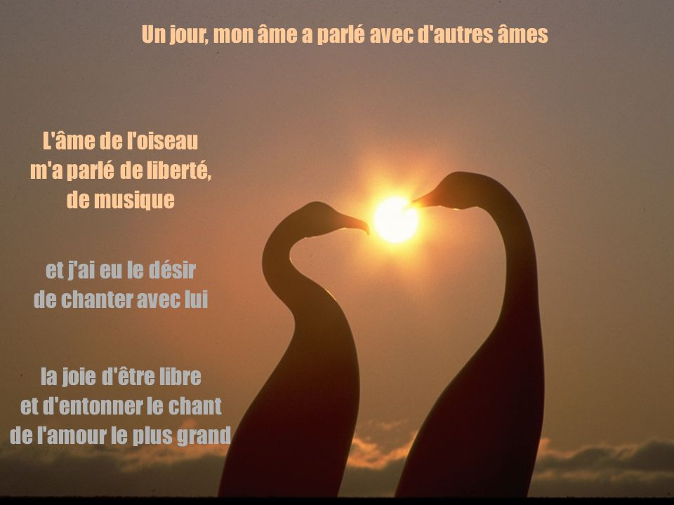 et d entonner le chant de l amour le plus grand