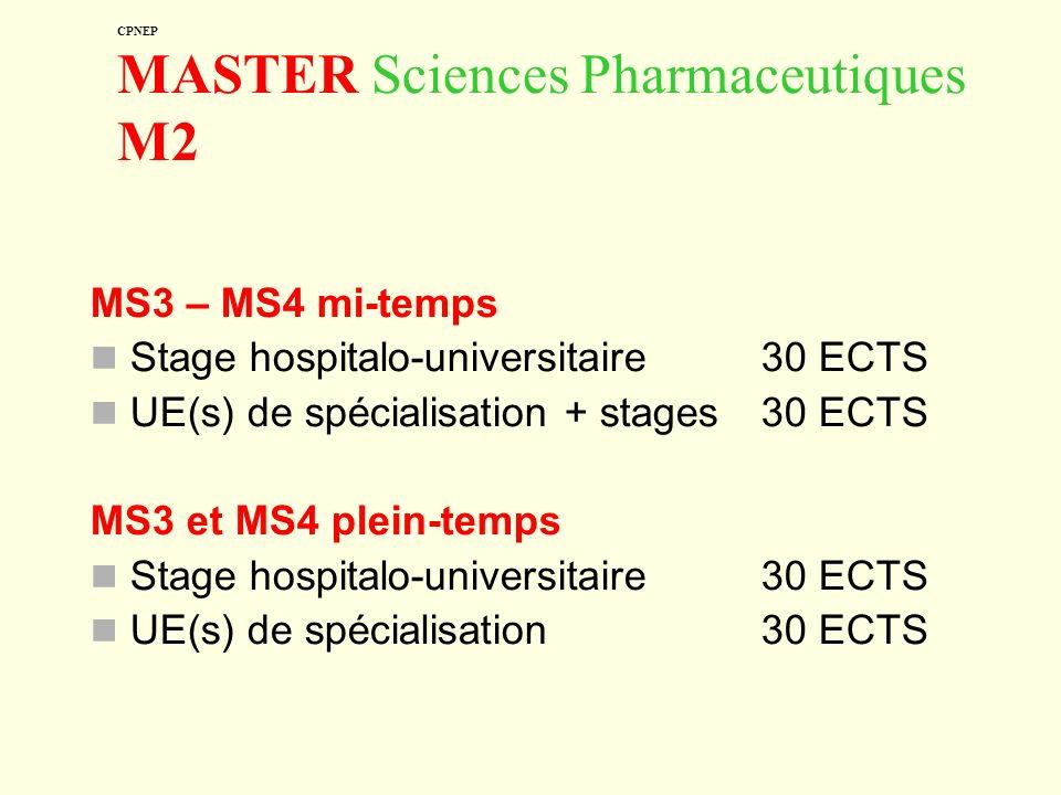 CPNEP MASTER Sciences Pharmaceutiques M2