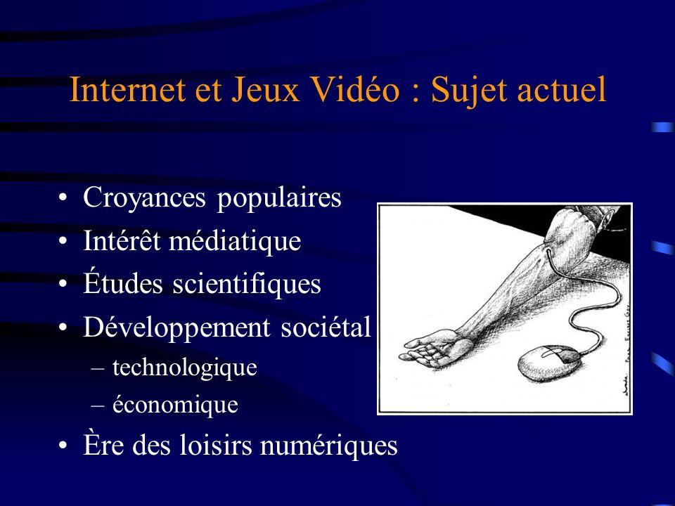 Internet et Jeux Vidéo : Sujet actuel