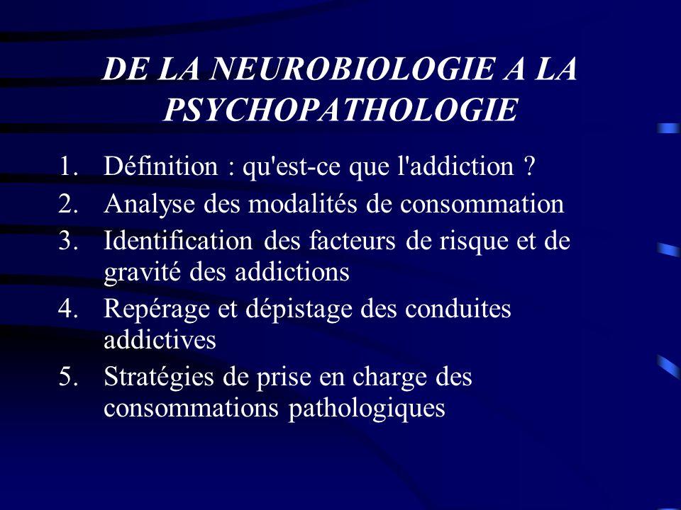 DE LA NEUROBIOLOGIE A LA PSYCHOPATHOLOGIE