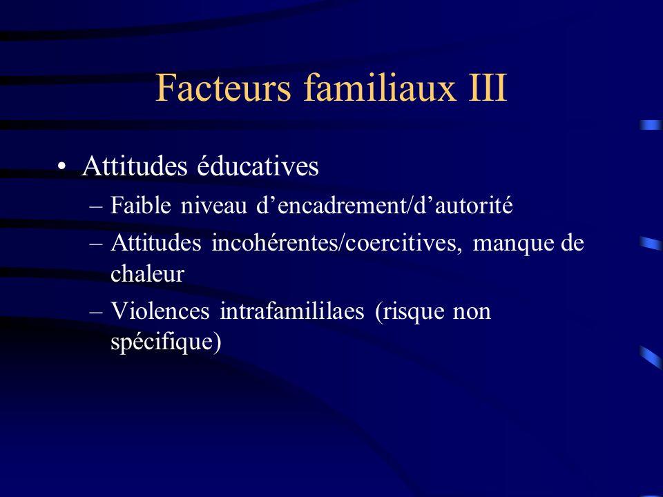 Facteurs familiaux III