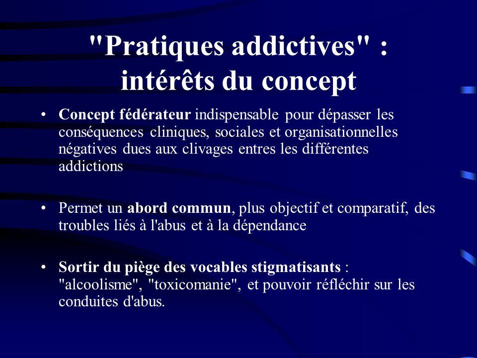 Pratiques addictives : intérêts du concept