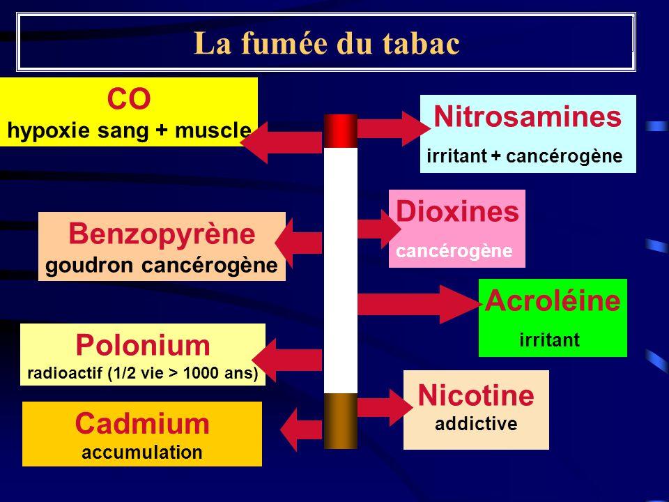 irritant + cancérogène radioactif (1/2 vie > 1000 ans)