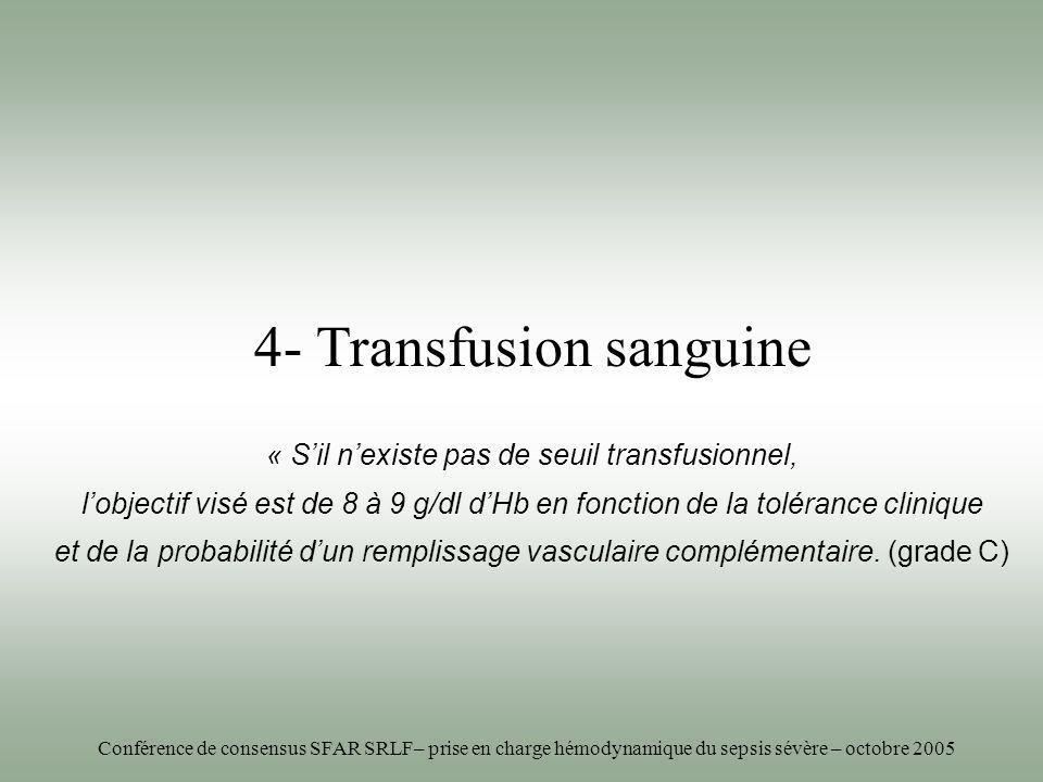 « S'il n'existe pas de seuil transfusionnel,