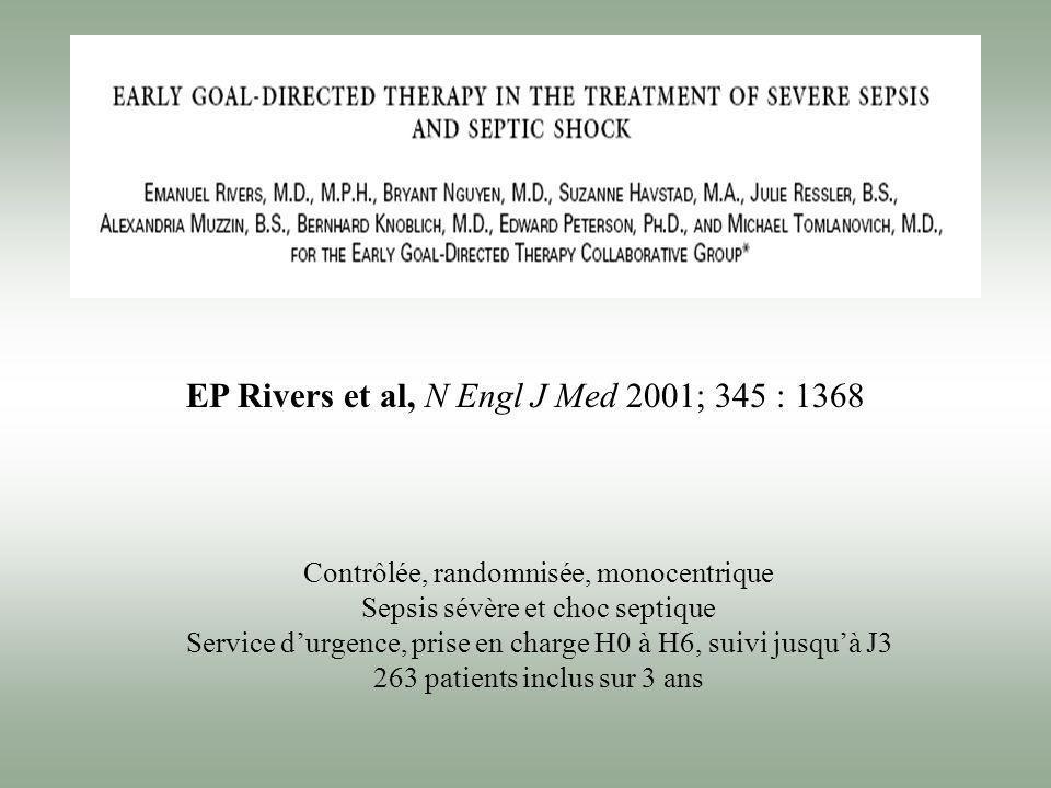 EP Rivers et al, N Engl J Med 2001; 345 : 1368