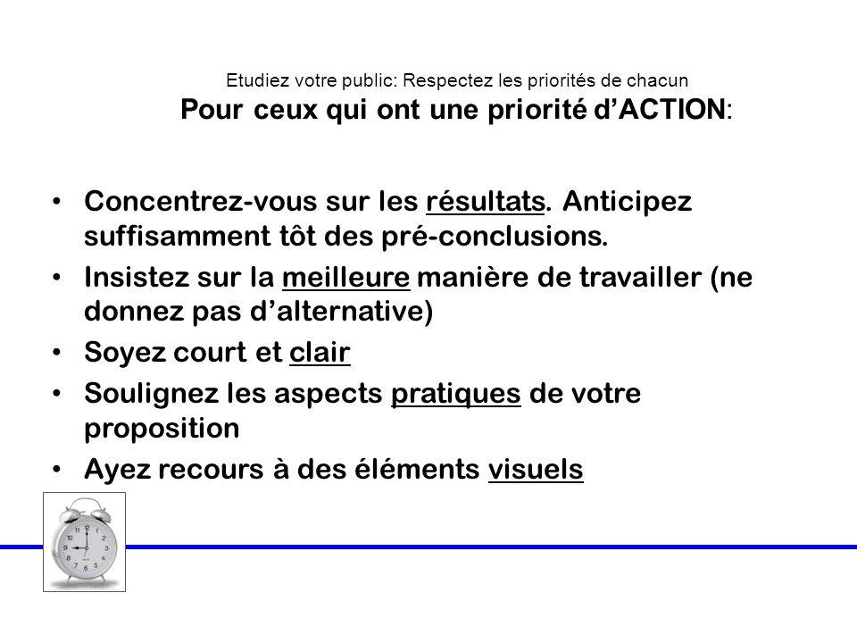 Soulignez les aspects pratiques de votre proposition