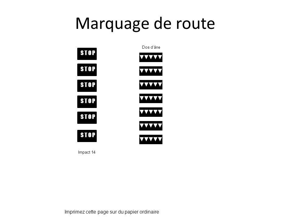 Marquage de route S T O P S T O P S T O P S T O P S T O P S T O P