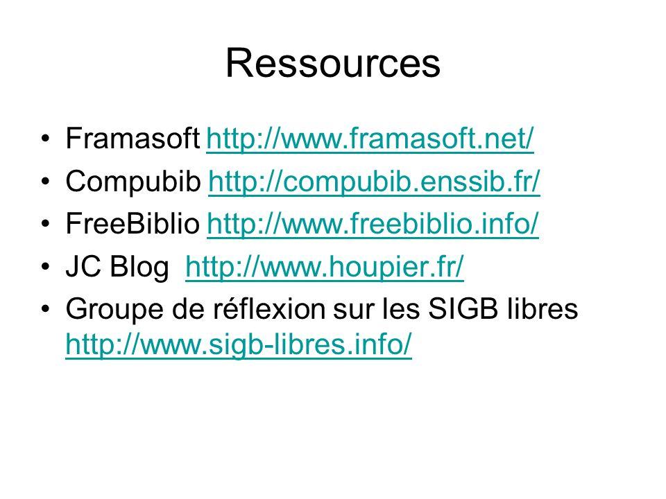 Ressources Framasoft http://www.framasoft.net/