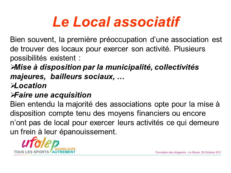 Le Local associatif