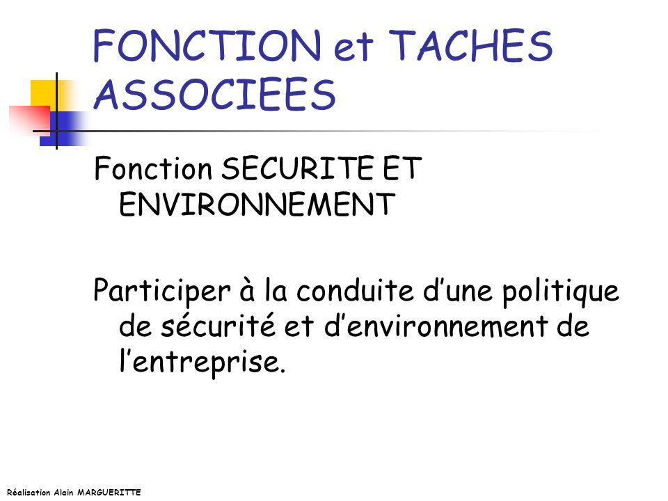 FONCTION et TACHES ASSOCIEES
