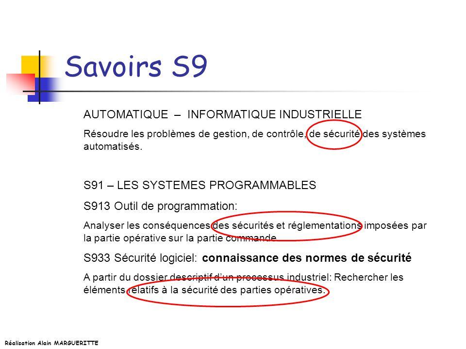 Savoirs S9 AUTOMATIQUE – INFORMATIQUE INDUSTRIELLE