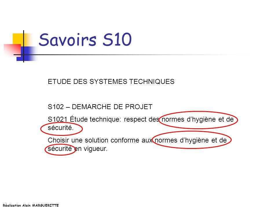 Savoirs S10 ETUDE DES SYSTEMES TECHNIQUES S102 – DEMARCHE DE PROJET
