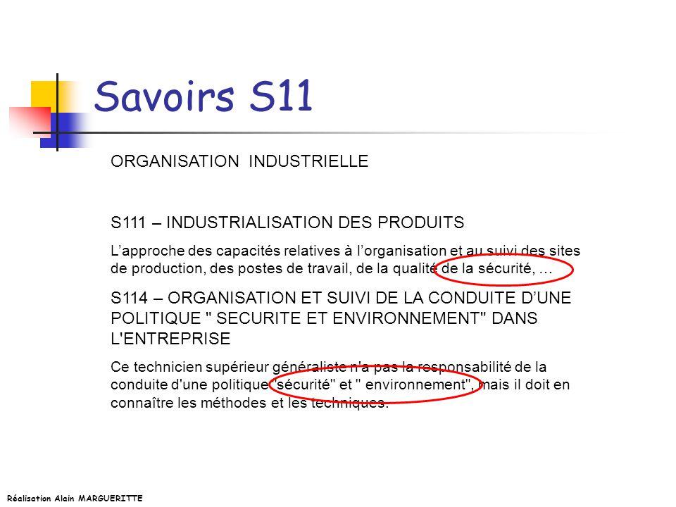 Savoirs S11 ORGANISATION INDUSTRIELLE