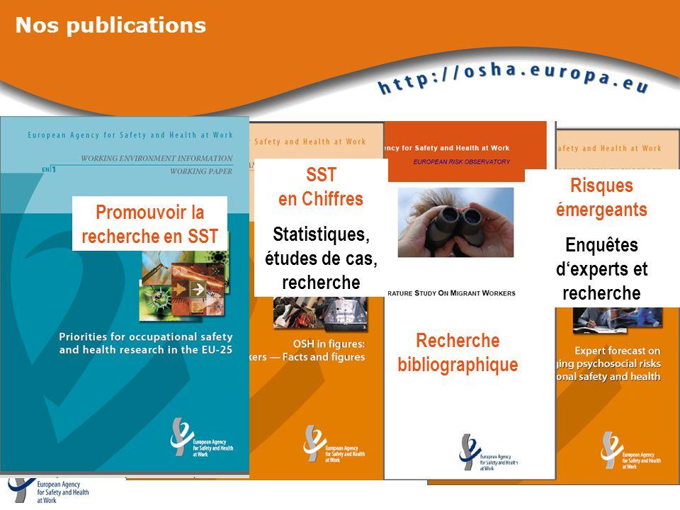 Nos publications SST en Chiffres Risques émergeants