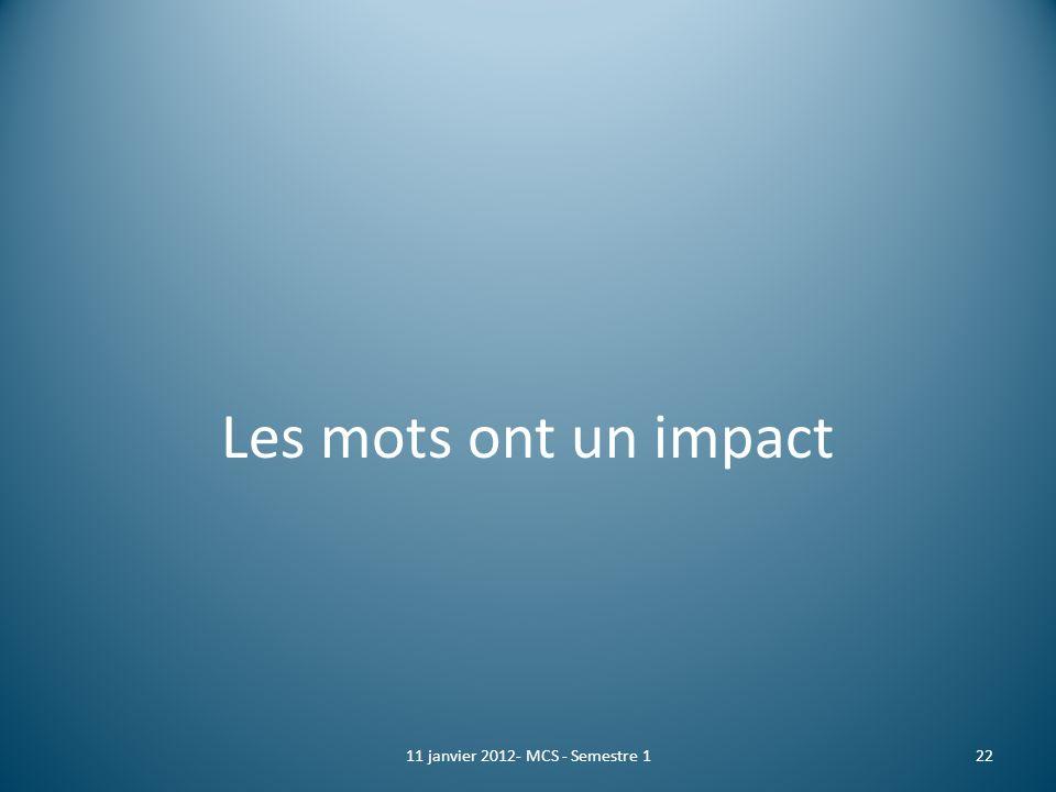 11 janvier 2012- MCS - Semestre 1