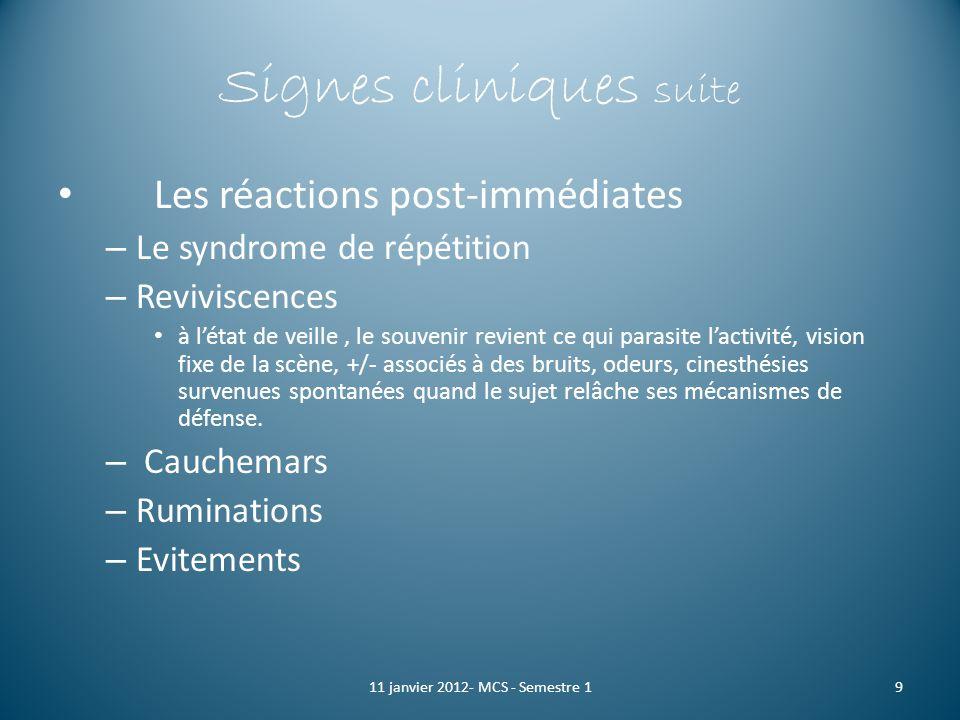Signes cliniques suite