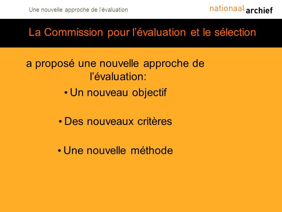 La Commission pour l'évaluation et le sélection