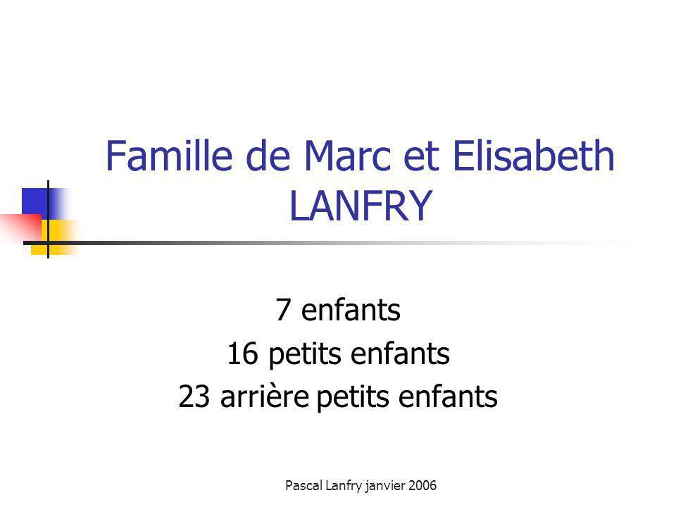 Famille de Marc et Elisabeth LANFRY