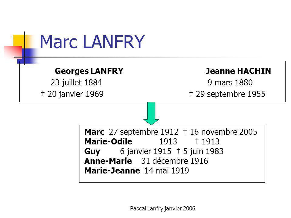 Marc LANFRY 23 juillet 1884 9 mars 1880