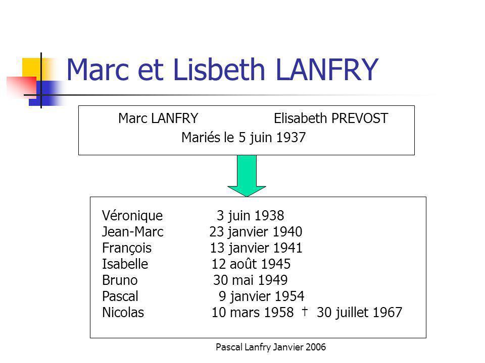 Marc et Lisbeth LANFRY Marc LANFRY Elisabeth PREVOST
