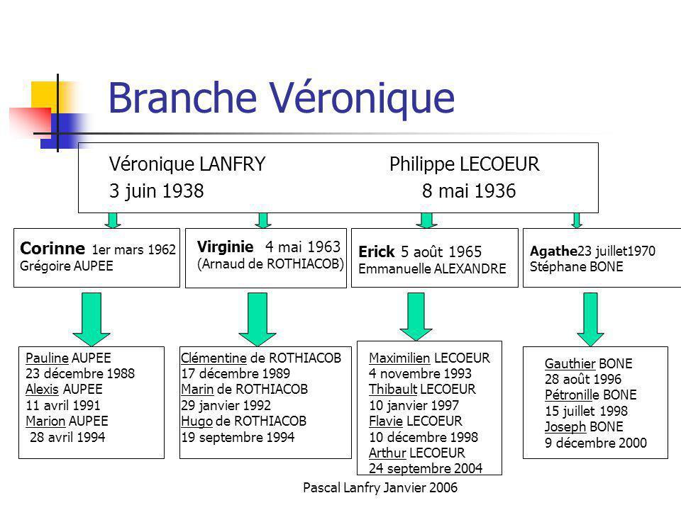 Branche Véronique Véronique LANFRY Philippe LECOEUR