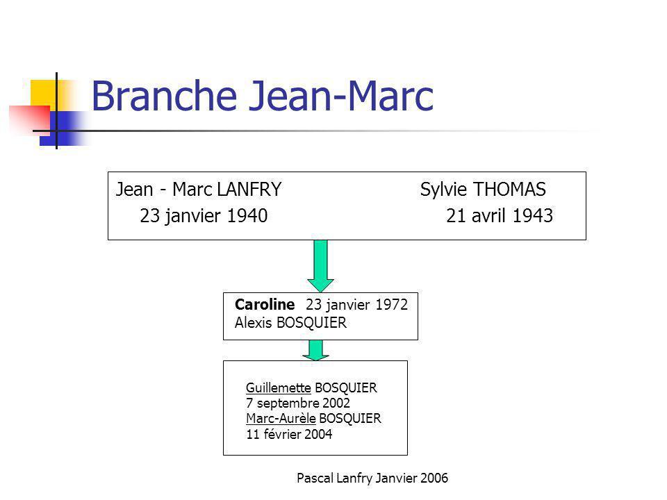 Branche Jean-Marc Jean - Marc LANFRY Sylvie THOMAS
