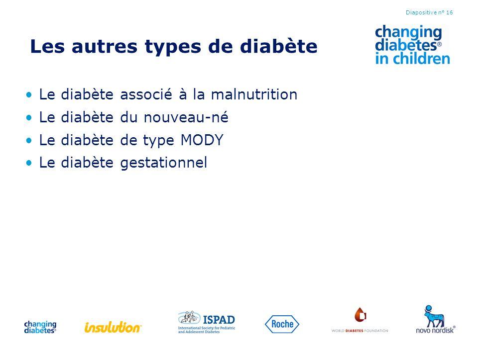 Les autres types de diabète