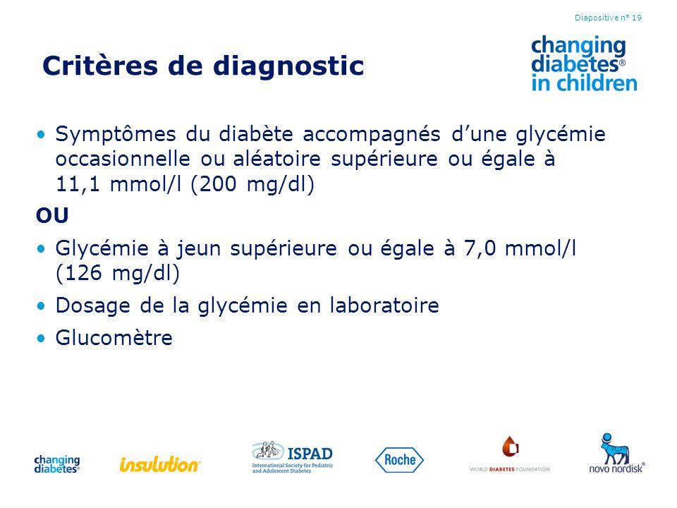 Critères de diagnostic