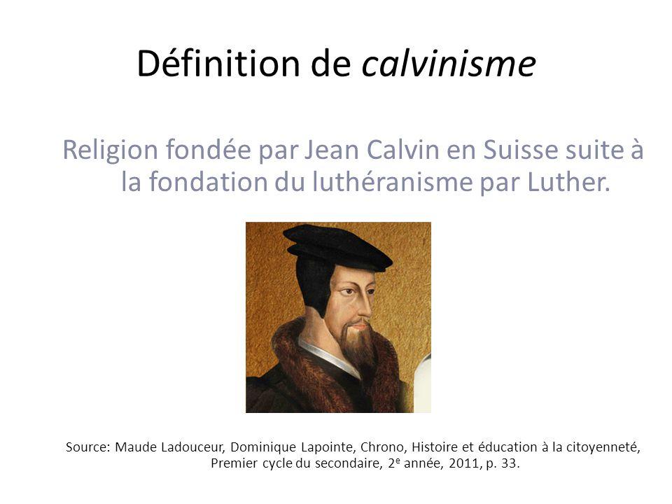 Définition de calvinisme