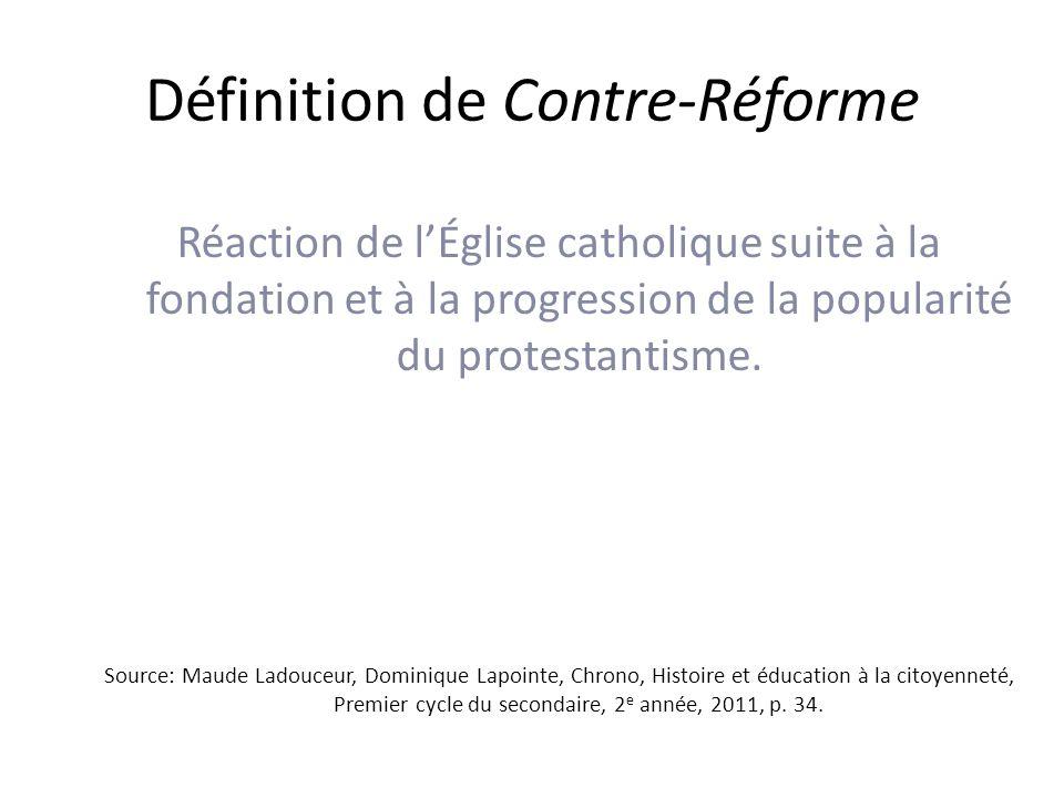 Définition de Contre-Réforme
