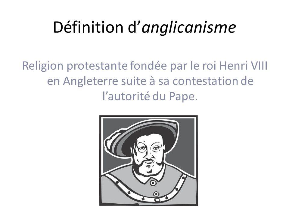 Définition d'anglicanisme