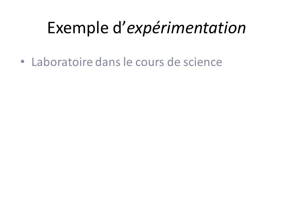 Exemple d'expérimentation