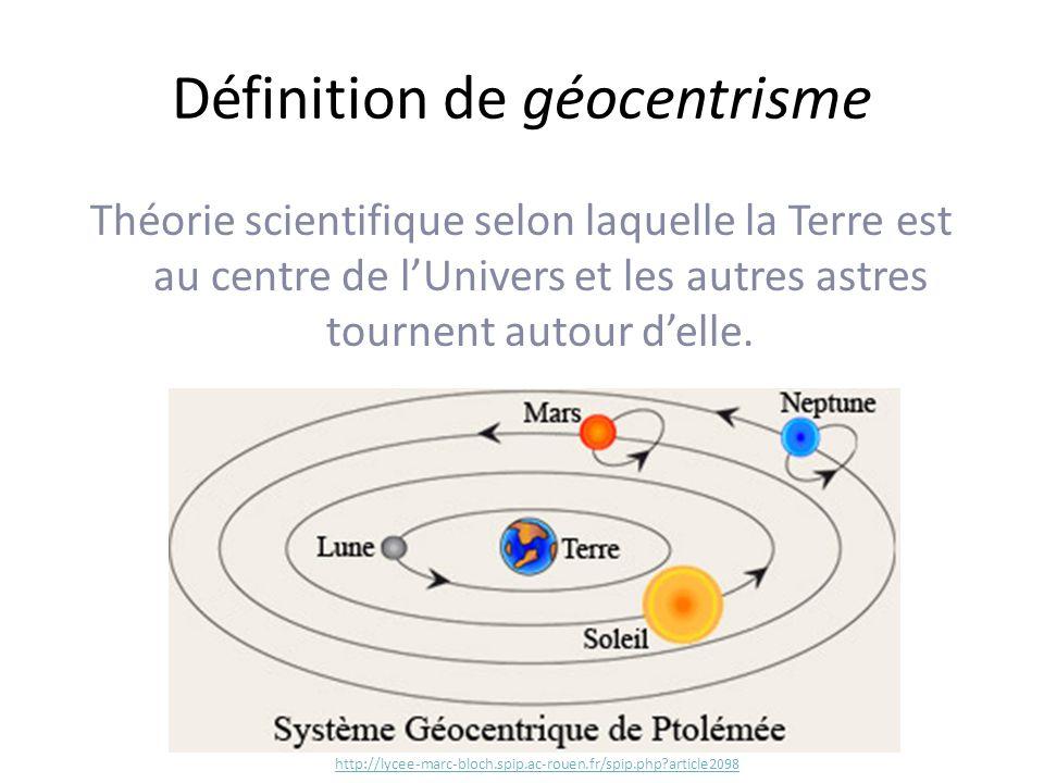 Définition de géocentrisme