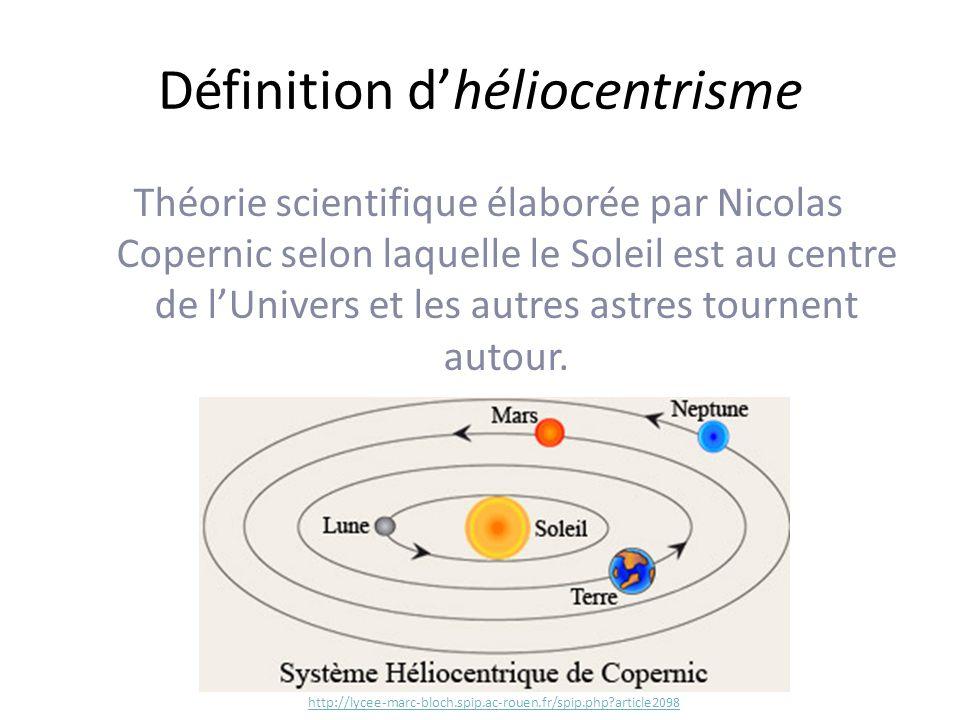 Définition d'héliocentrisme