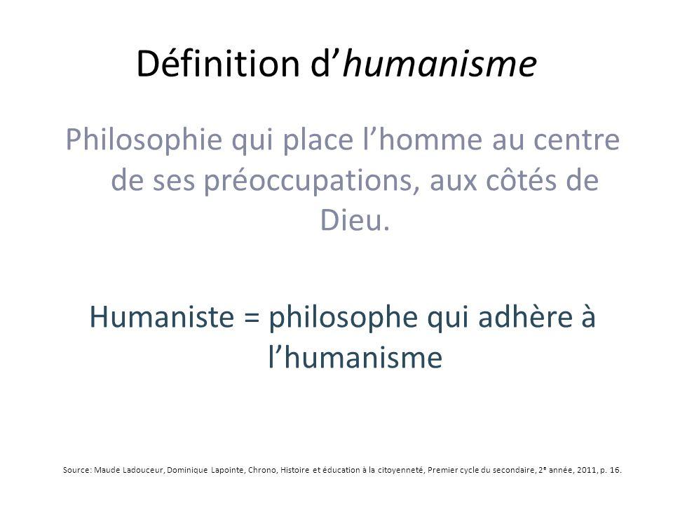 Définition d'humanisme