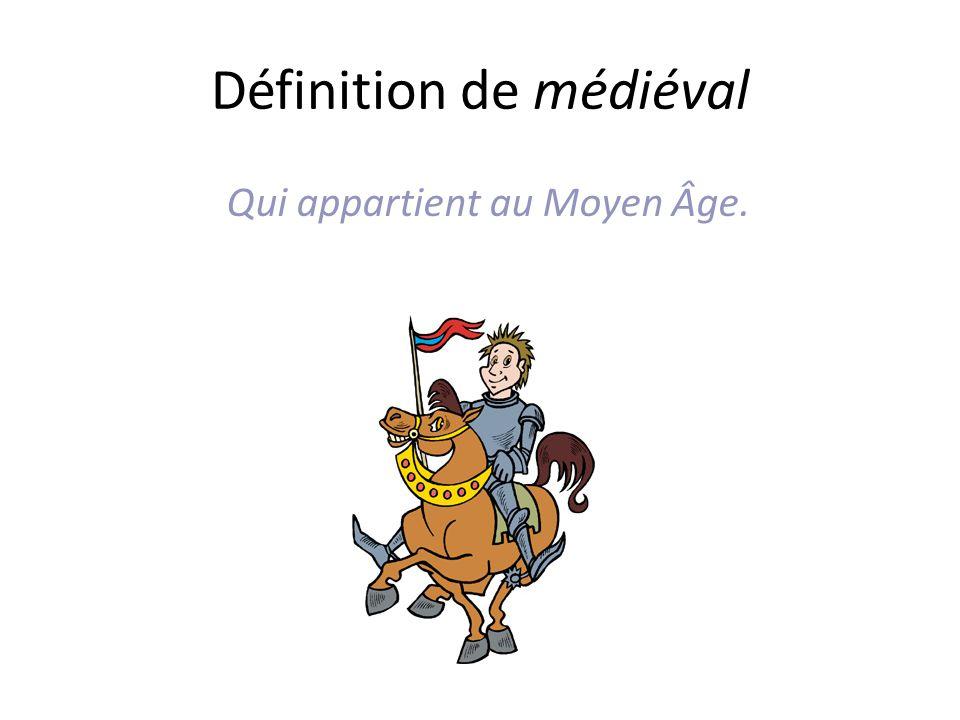 Définition de médiéval