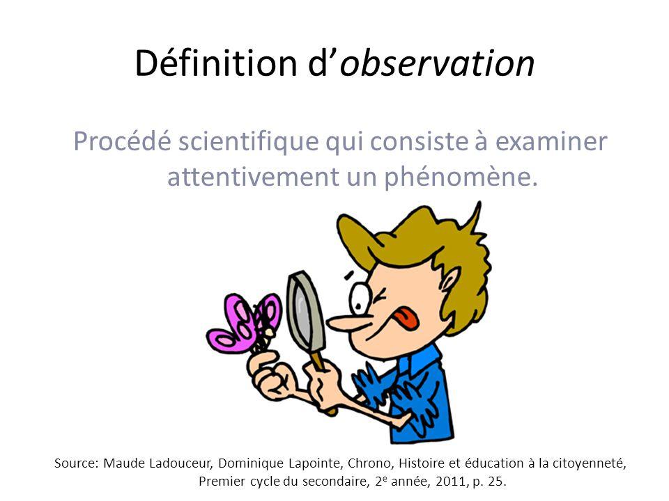 Définition d'observation