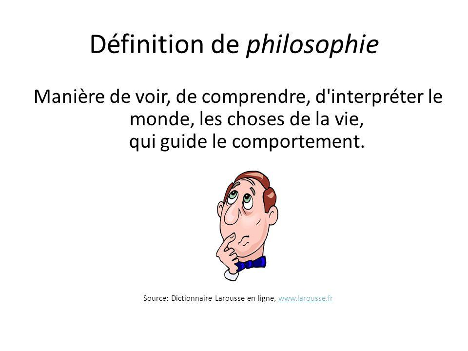 Définition de philosophie