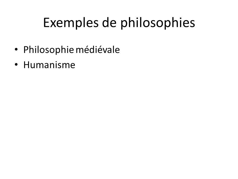 Exemples de philosophies
