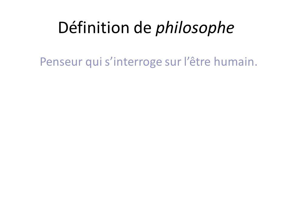Définition de philosophe