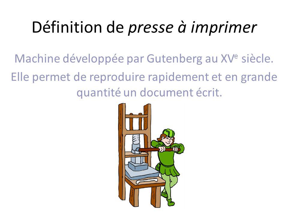Définition de presse à imprimer