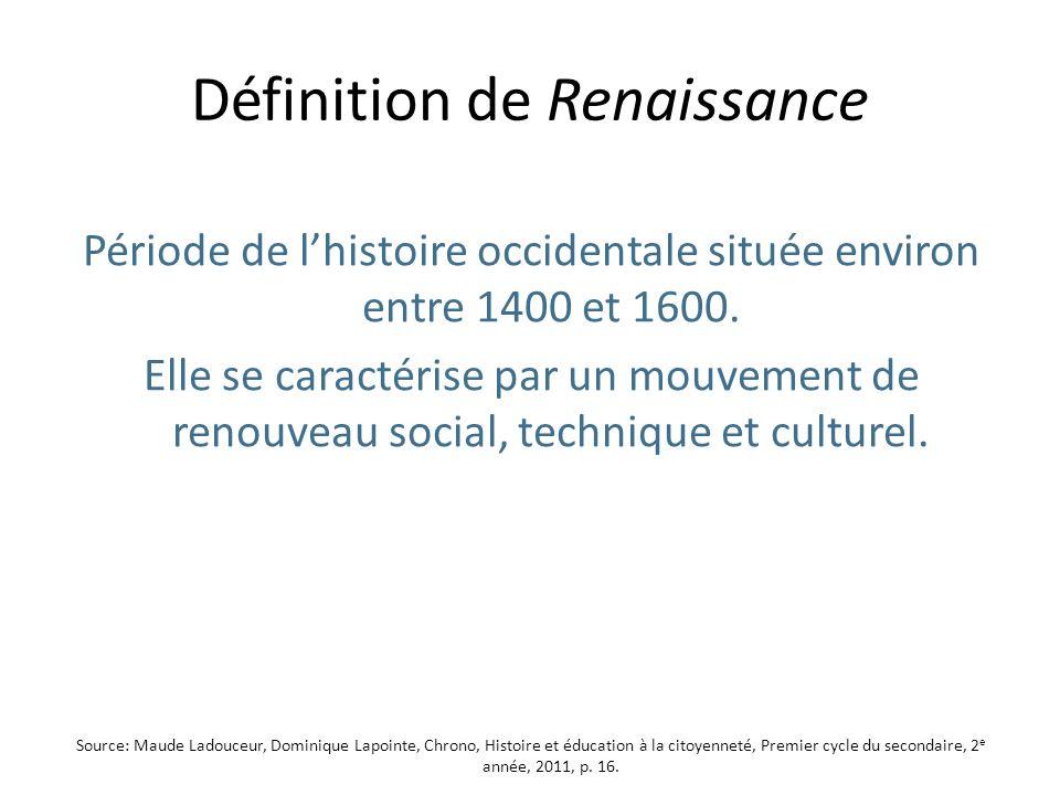 Définition de Renaissance