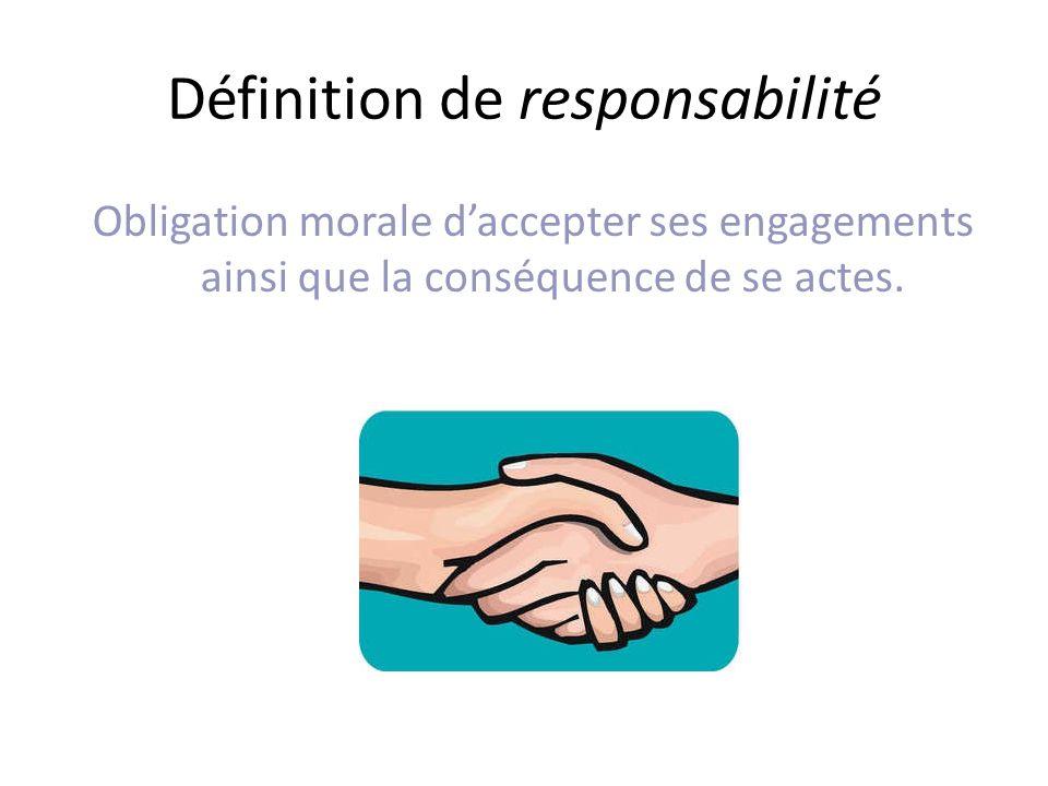 Définition de responsabilité